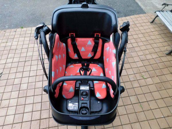 2016年モデル 子供乗せ3人乗り仕様 Panasonic ギュットミニEX BE-ELME03 アクティブホワイト 大容量16Ah 車体&バッテリー極めて良好 自304_画像4