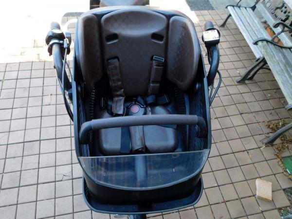 2015 子供乗せ3人乗り ブリヂストン アンジェリーノ プティットe A20L15 スプリングイエロー 大容量12.8Ah 車体良好&バッテリー極めて良好_画像4
