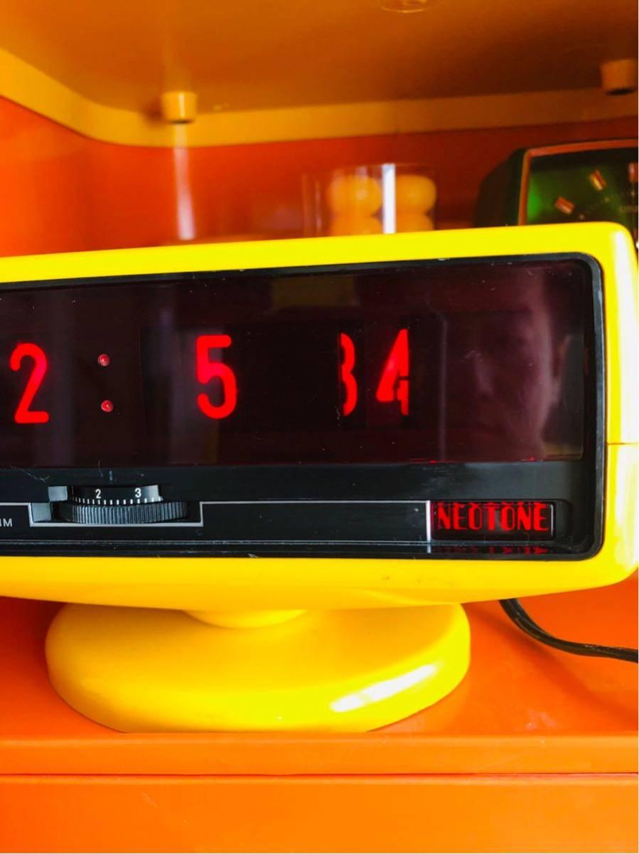 1970s spaceage vintage clock◆デジタル レトロ◆カルテル◆パントン◆スペースエイジ◆グッドデザイン◆ルミタイム◆パタパタ時計_画像2