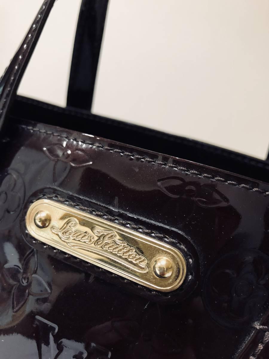 ◆ 超美品 ◆ ルイヴィトン LOUIS VUITTON ヴェルニ ライン ウィルシャー アマラント バッグ_画像2
