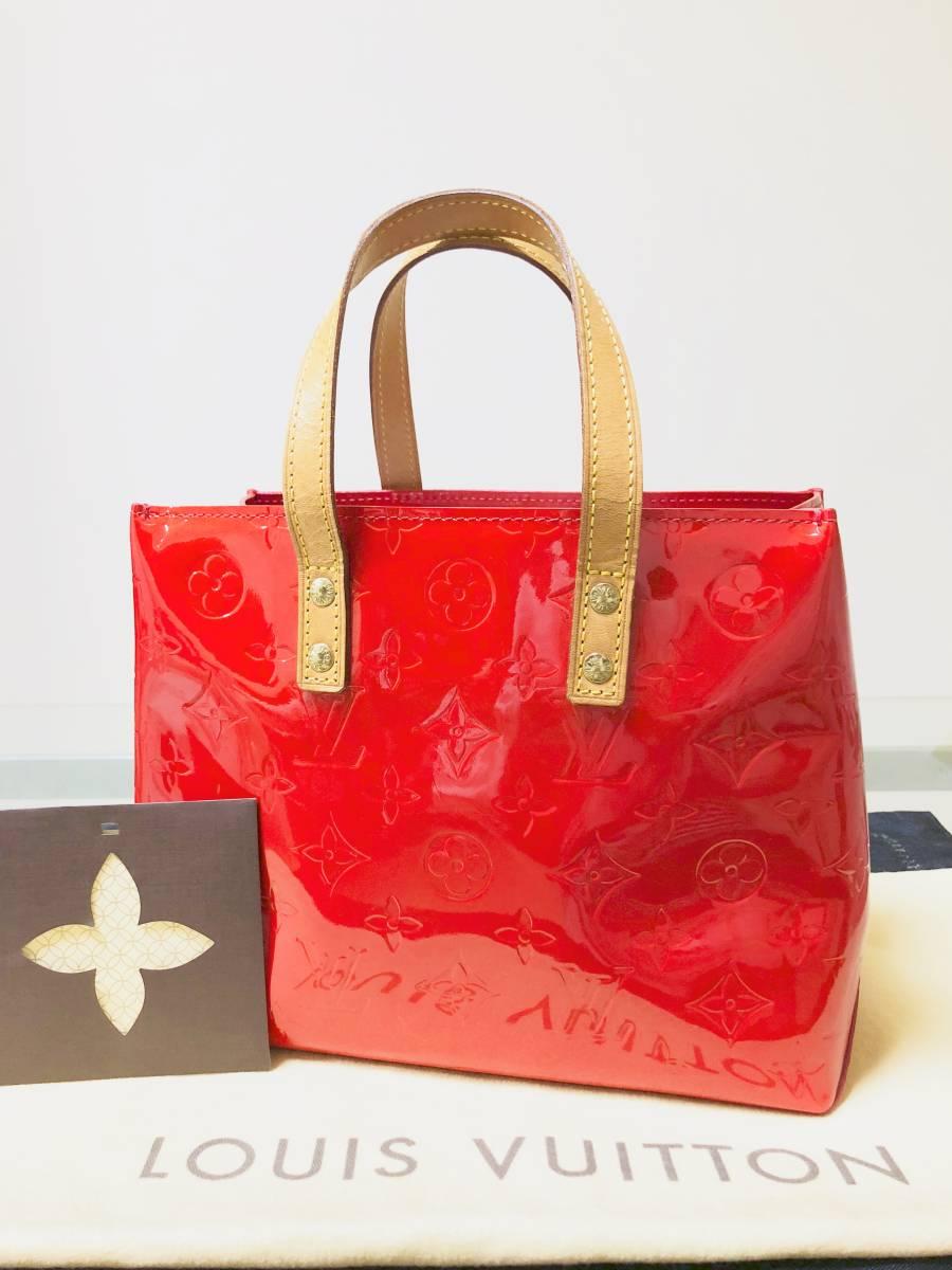 ◆ 超美品 ◆ ルイヴィトン LOUIS VUITTON ヴェルニ ライン 赤 リードPM バッグ