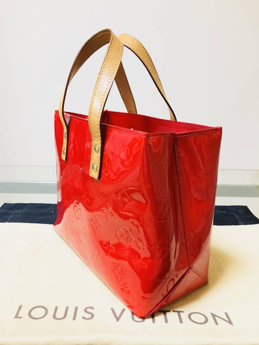 ◆ 超美品 ◆ ルイヴィトン LOUIS VUITTON ヴェルニ ライン 赤 リードPM バッグ_画像2