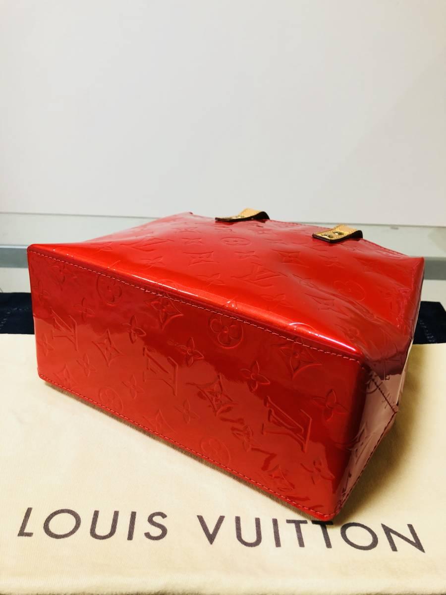 ◆ 超美品 ◆ ルイヴィトン LOUIS VUITTON ヴェルニ ライン 赤 リードPM バッグ_画像3