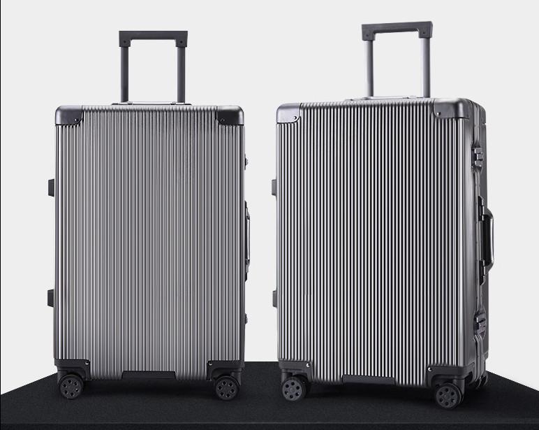 新品未使用【定価58万】航空級アルミマグネシウム合金キャリーケース 強い耐圧 TSAロック搭載 スーツケース トランク海外旅行20インチMV158_画像2