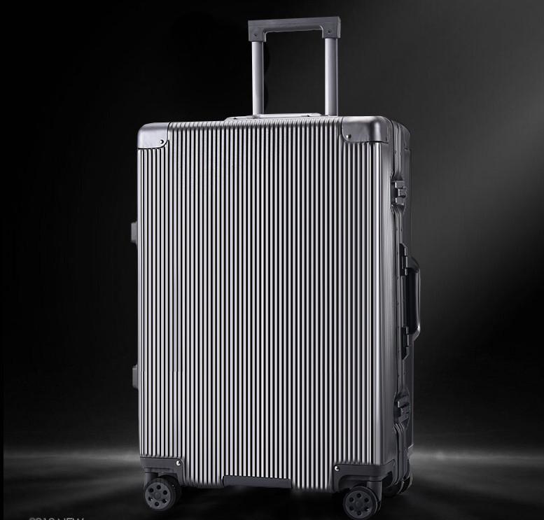 新品未使用【定価58万】航空級アルミマグネシウム合金キャリーケース 強い耐圧 TSAロック搭載 スーツケース トランク海外旅行20インチMV158