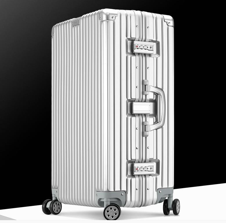 新品 上級絶品★航空級 アルミマグネシウム合金キャリーケース 強い耐圧 TSAロック搭載 スーツケース トランク 海外旅行 20インチ M162_画像3