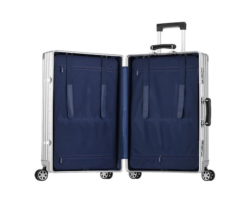 新品 上級絶品★航空級 アルミマグネシウム合金キャリーケース 強い耐圧 TSAロック搭載 スーツケース トランク 海外旅行 20インチ M162_画像9