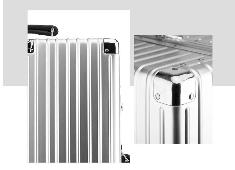新品 上級絶品★航空級 アルミマグネシウム合金キャリーケース 強い耐圧 TSAロック搭載 スーツケース トランク 海外旅行 20インチ M162_画像5