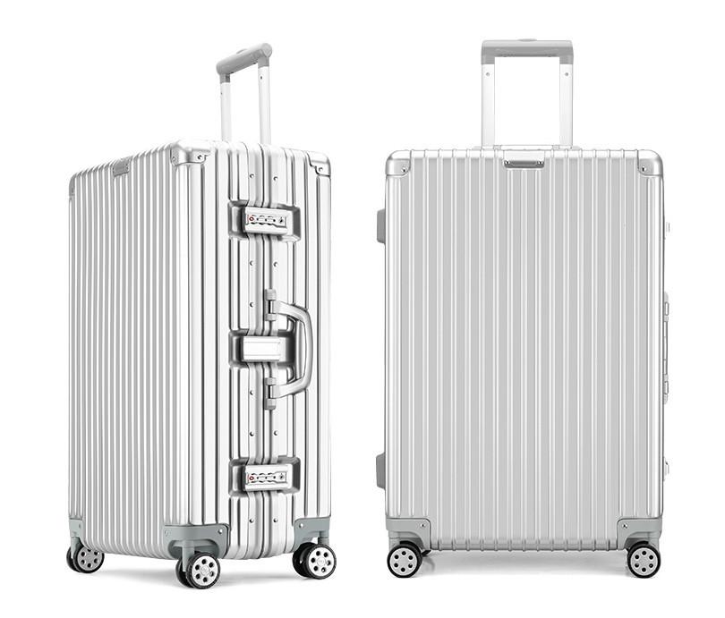新品 上級絶品★航空級 アルミマグネシウム合金キャリーケース 強い耐圧 TSAロック搭載 スーツケース トランク 海外旅行 20インチ M162_画像2
