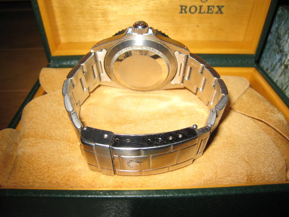 正規品 日本ロレックス取扱品 完全オリジナル ROLEX SUBMARINER サブマリーナ 16610 T番(96年製)オールトリチウム 付属品完備_画像3