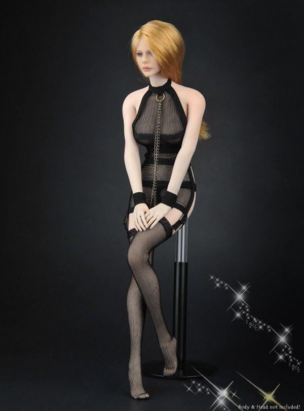 1/6 ZYTOYS ZY-5017 女性フィギュア用 メッシュセクシーコスチュームセット 服_画像5