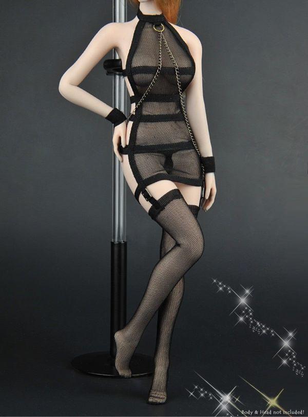 1/6 ZYTOYS ZY-5017 女性フィギュア用 メッシュセクシーコスチュームセット 服_画像2