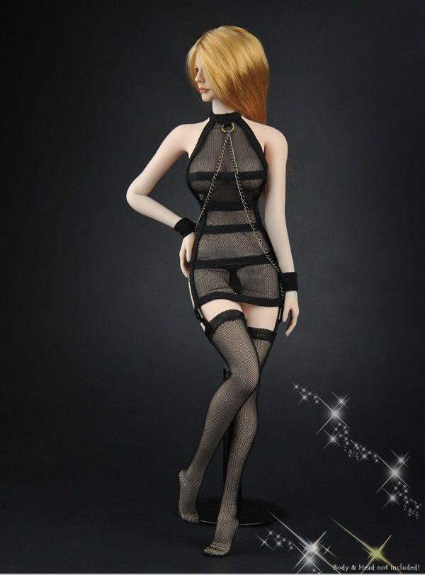1/6 ZYTOYS ZY-5017 女性フィギュア用 メッシュセクシーコスチュームセット 服_画像4