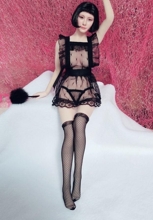 1/6 女性フィギュア用 セクシーメイドコスチュームセット 服_画像4