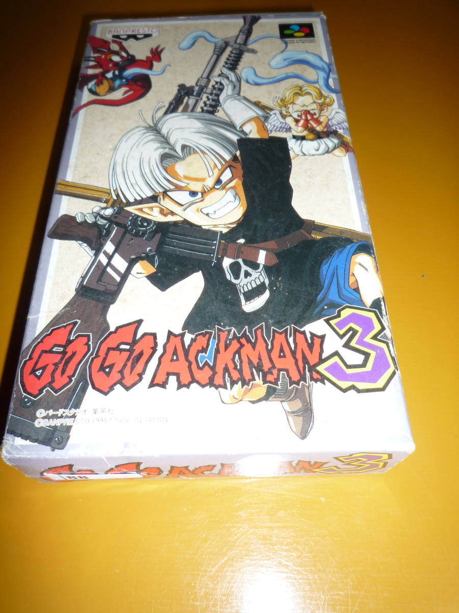 【88】 スーパーファミコン 中古 ケース・説明書有:動作確認済み: Go Go ACKMAN3