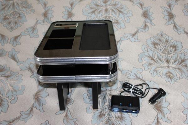 MADLYS ミツビシ デリカD:5専用 センターテーブル ver4 フロント用 ピアノブラック 輝オート_画像2