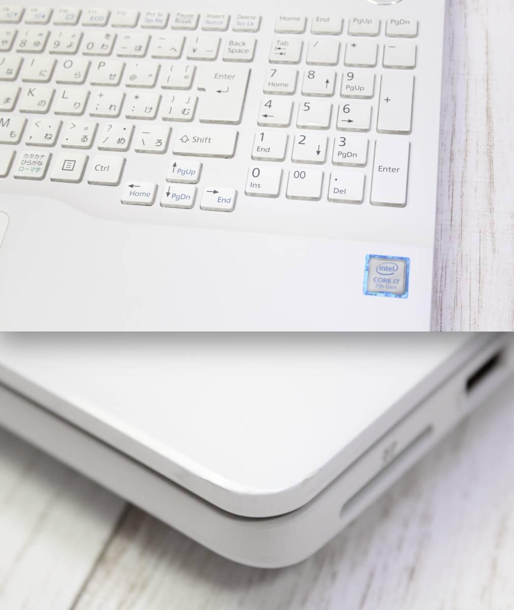 FUJITSU LIFEBOOK AH77/B1 超高性能・第7世代 Core i7-7700HQ 大容量の新品SSD500GB・メモリ16GB ・OFFICE 2016・フルHD・タッチパネル _画像4