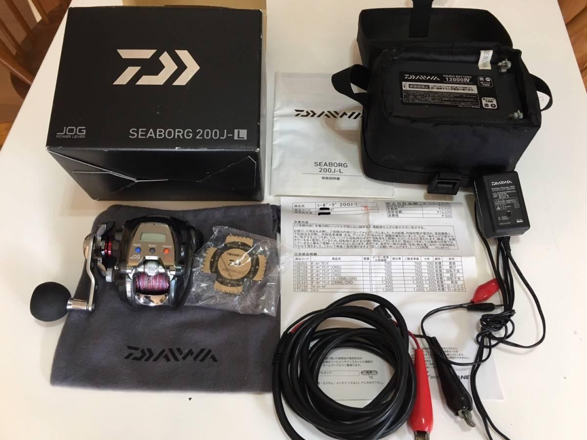 ☆1円☆ ダイワ Daiwa シーボーグ200J-L 左ハンドル インチク スロージギング スロージグ 鯛ラバ タフバッテリー 1200Ⅳ 12V 12Ah