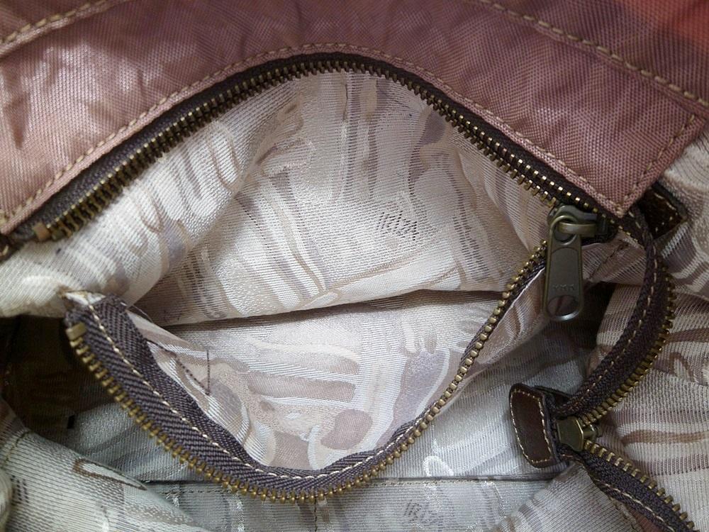 19-1350【中古】IBIZA イビザ イビサ ナイロン ハンドバッグ ピンク 花 ワンポイント 日本製 保存袋つき レディース_画像8