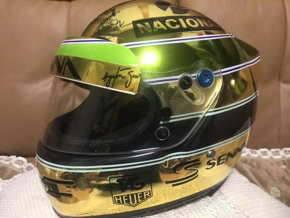 アイルトン セナ 1/1 R2Z SPORT RACING FIA SA 2005 approved 型のアニバーサリーゴールド鍍金 スペシャル モデルのレプリカのLサイズ。_画像2