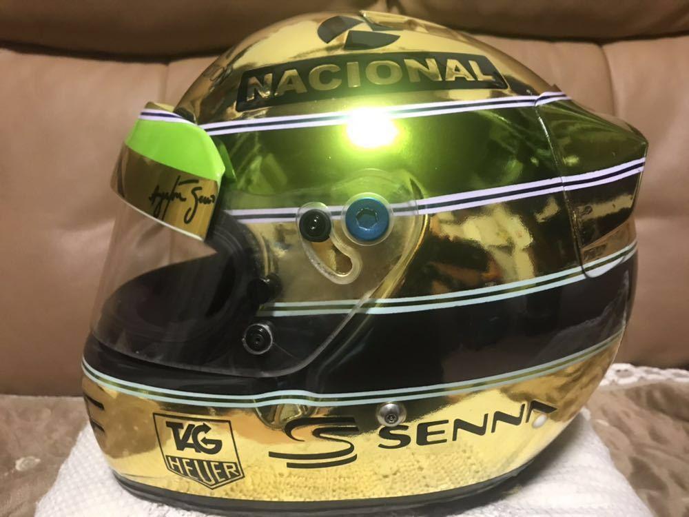 アイルトン セナ 1/1 R2Z SPORT RACING FIA SA 2005 approved 型のアニバーサリーゴールド鍍金 スペシャル モデルのレプリカのLサイズ。_画像3