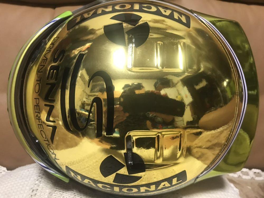 アイルトン セナ 1/1 R2Z SPORT RACING FIA SA 2005 approved 型のアニバーサリーゴールド鍍金 スペシャル モデルのレプリカのLサイズ。_画像4