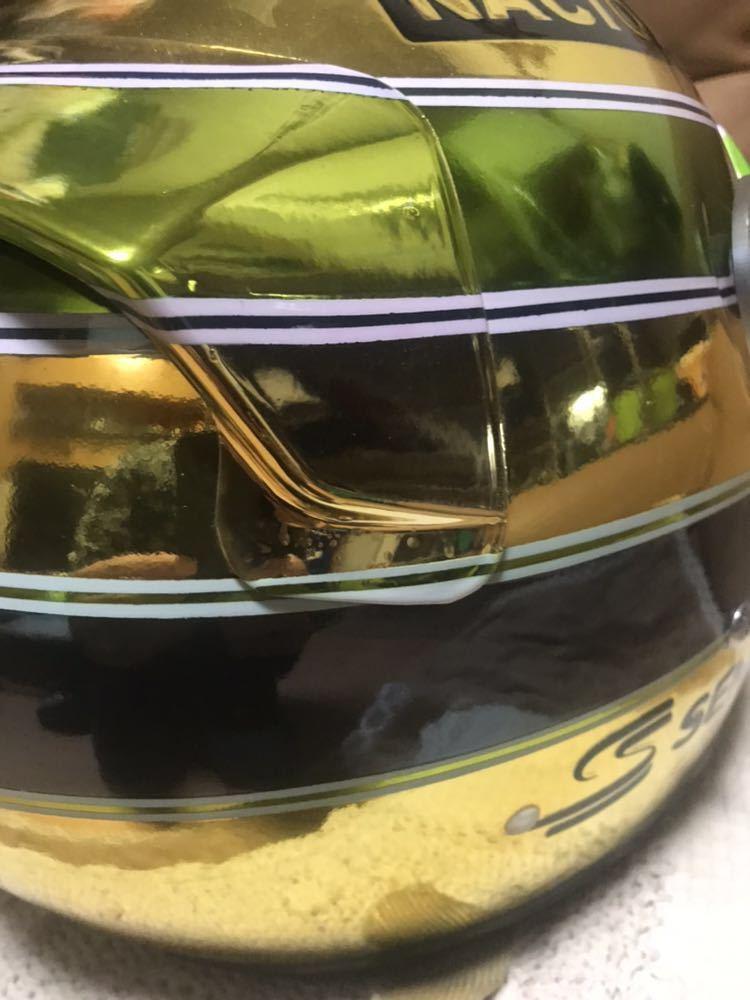 アイルトン セナ 1/1 R2Z SPORT RACING FIA SA 2005 approved 型のアニバーサリーゴールド鍍金 スペシャル モデルのレプリカのLサイズ。_画像6