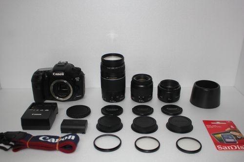 初期不良対応OK Canon EOS 7D MarkⅡ 単焦点&標準&望遠トリプルレンズ Canon デジタル一眼レフカメラ EOS 7D MarkII★☆
