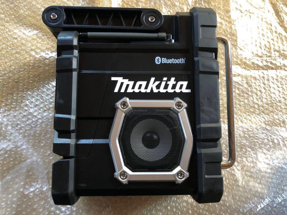 マキタ 充電式ラジオ 黒 MR108B makita radio Bluetooth ブルートゥース スマートフォン接続 アンドロイド iPhone 防じん 防水 現場_画像2