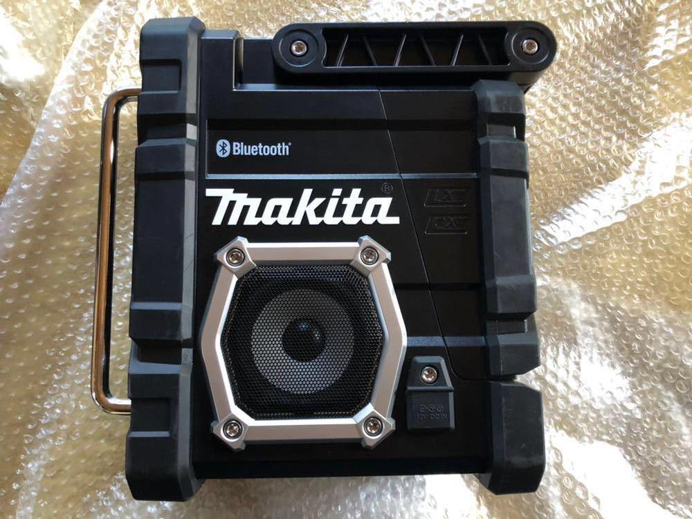 マキタ 充電式ラジオ 黒 MR108B makita radio Bluetooth ブルートゥース スマートフォン接続 アンドロイド iPhone 防じん 防水 現場_画像3
