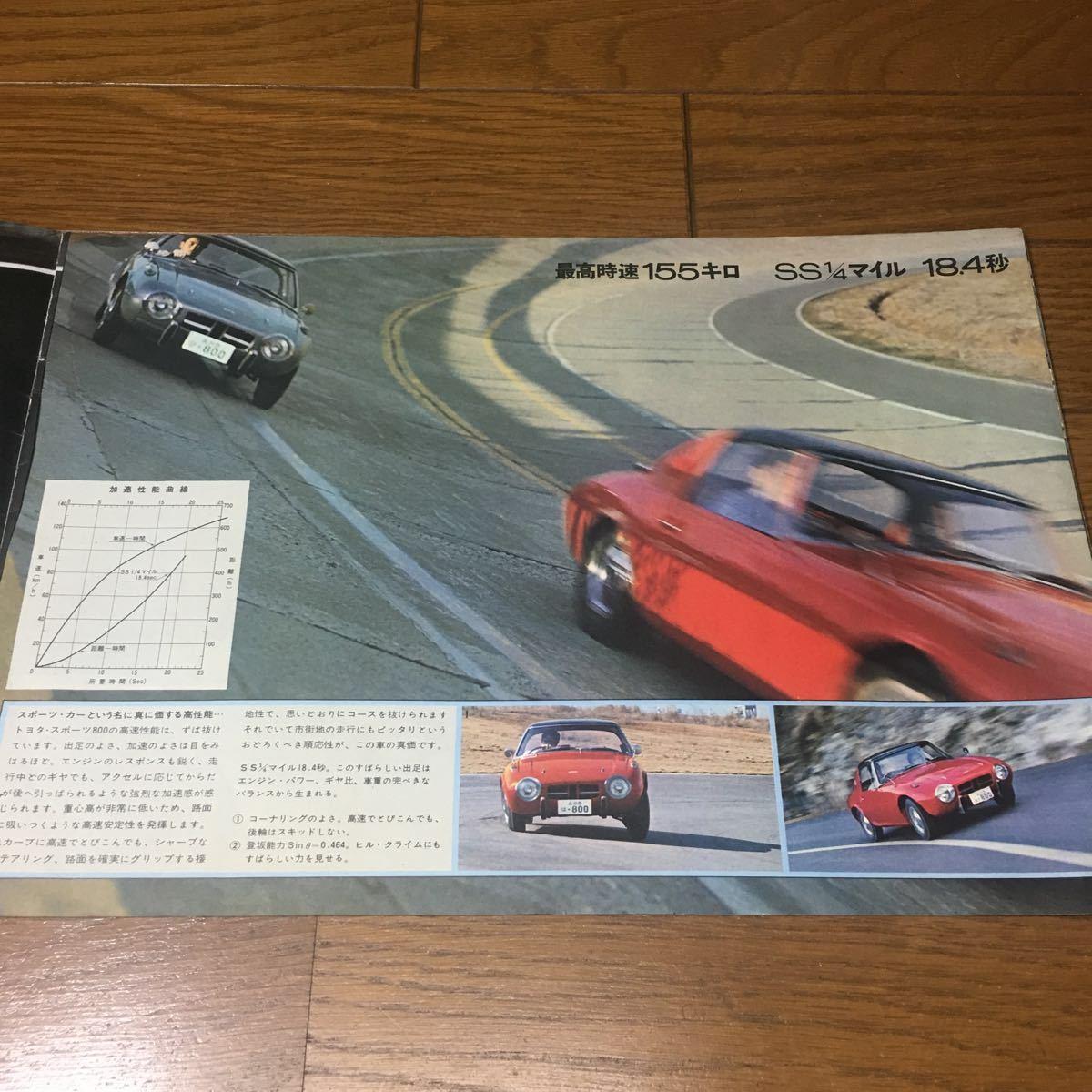 復刻版ではございません 絶版 旧車カタログ トヨタ スポーツ800 ヨタハチ 当時物 昭和 希少 貴重 美品_画像4