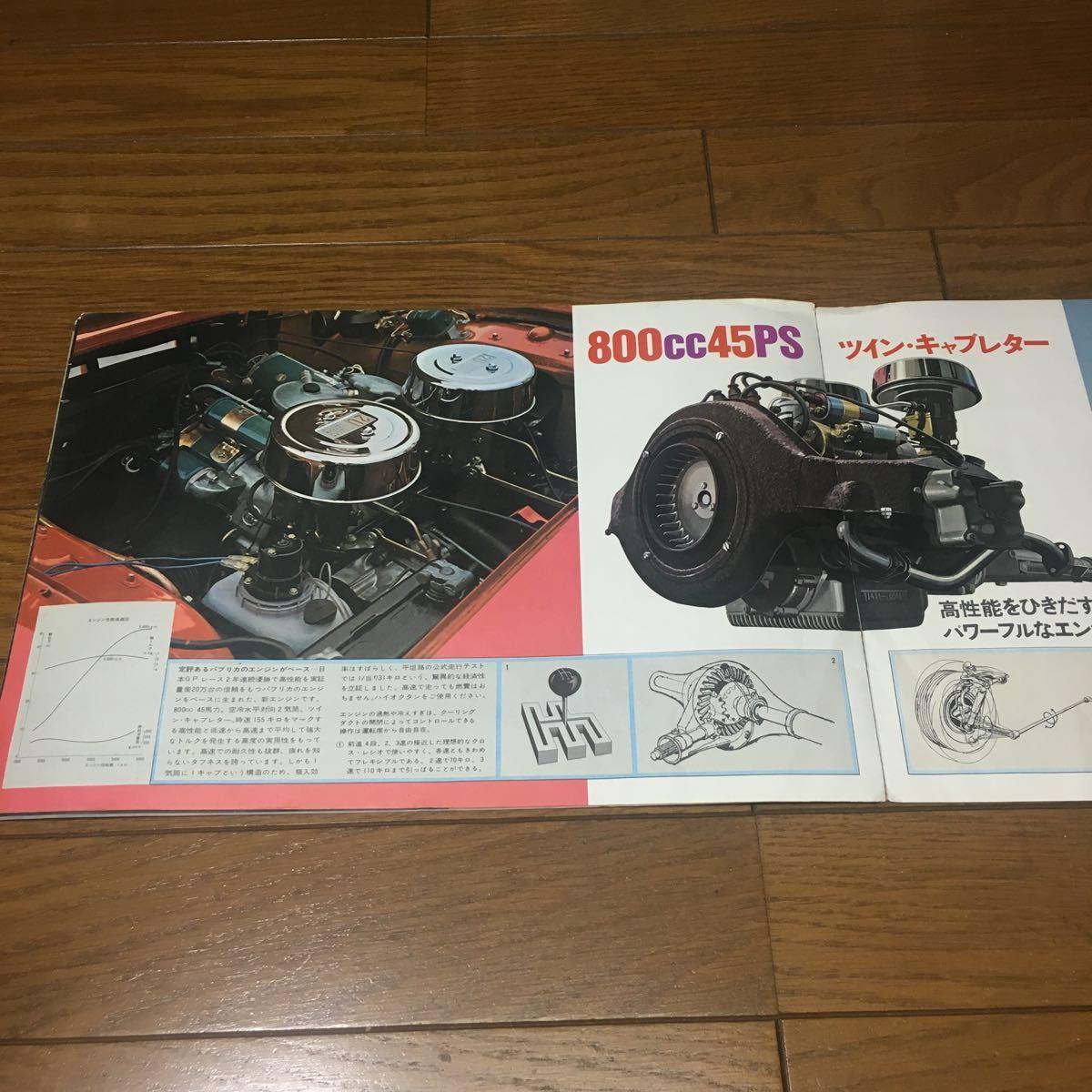 復刻版ではございません 絶版 旧車カタログ トヨタ スポーツ800 ヨタハチ 当時物 昭和 希少 貴重 美品_画像5
