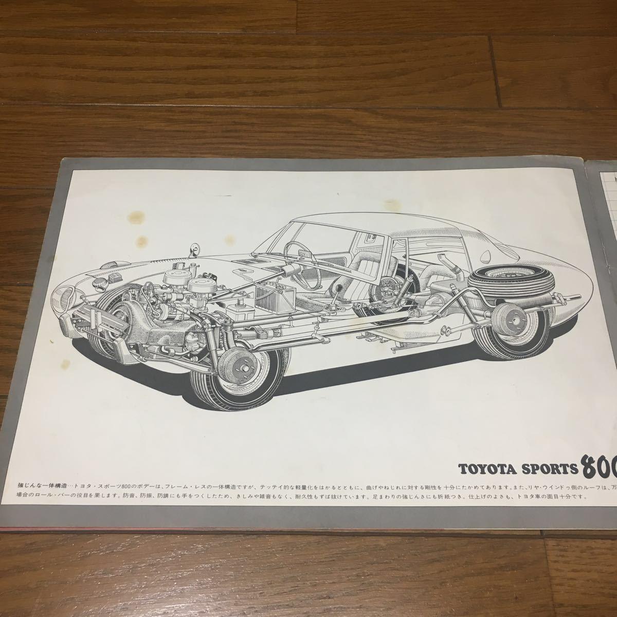 復刻版ではございません 絶版 旧車カタログ トヨタ スポーツ800 ヨタハチ 当時物 昭和 希少 貴重 美品_画像7
