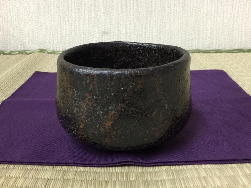 黒楽茶碗 時代品 茶道具