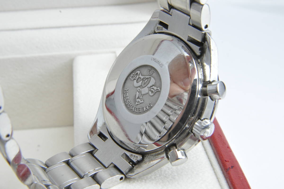 #3744 OMEGA 3513.80 スピードマスター 日本限定 青文字盤 クロノグラフ 自動巻き 腕時計 オメガ Speedmaster_画像6