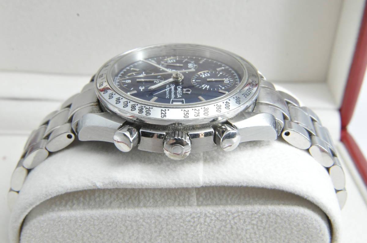 #3744 OMEGA 3513.80 スピードマスター 日本限定 青文字盤 クロノグラフ 自動巻き 腕時計 オメガ Speedmaster_画像3