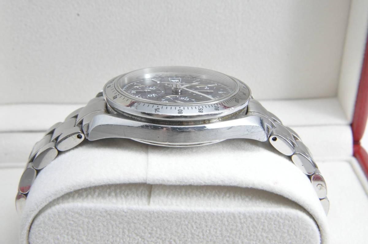 #3744 OMEGA 3513.80 スピードマスター 日本限定 青文字盤 クロノグラフ 自動巻き 腕時計 オメガ Speedmaster_画像4