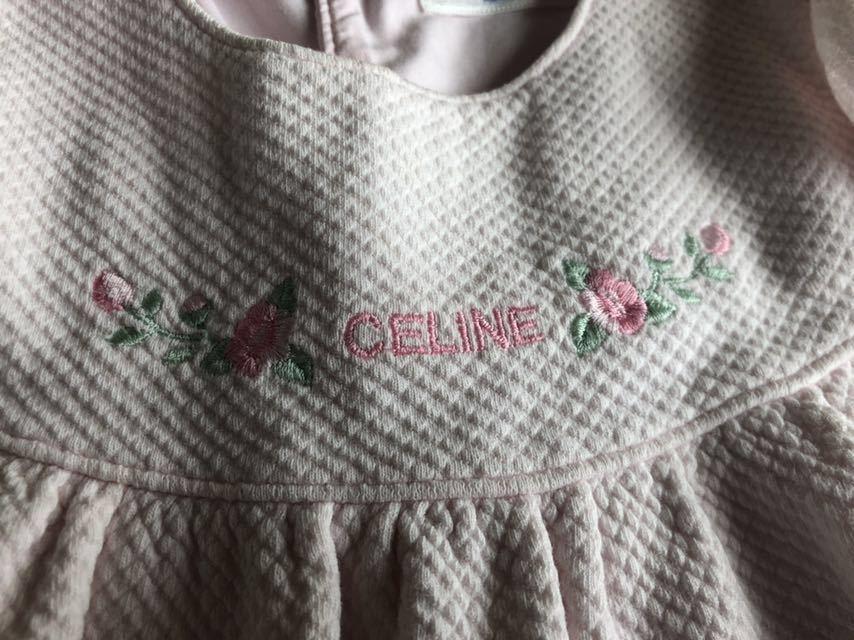 セリーヌ ワンピース パンツ付き 90 ベビーピンク 女の子_画像3