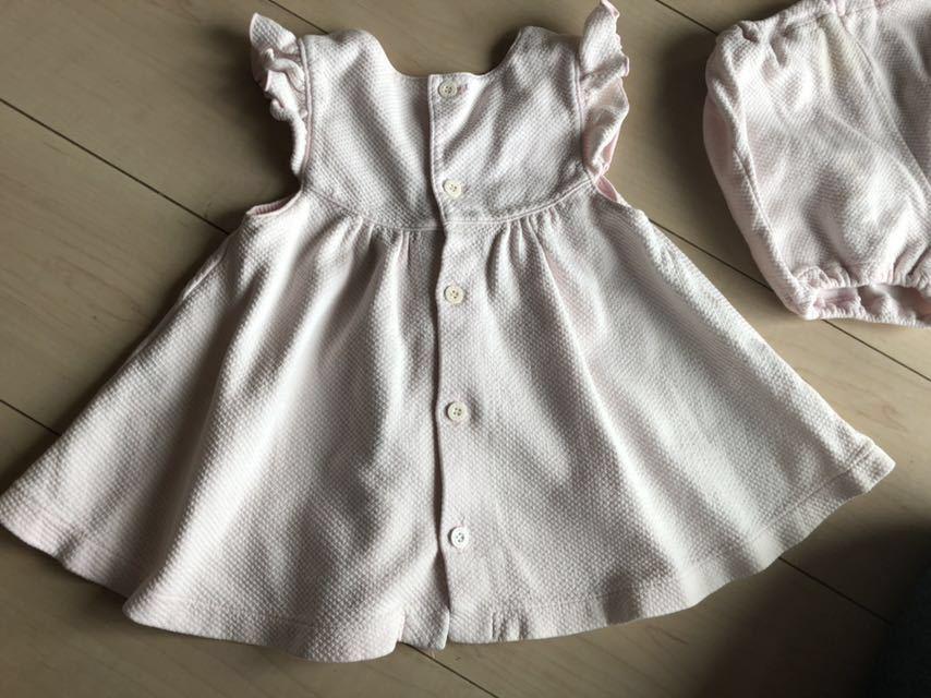 セリーヌ ワンピース パンツ付き 90 ベビーピンク 女の子_画像4