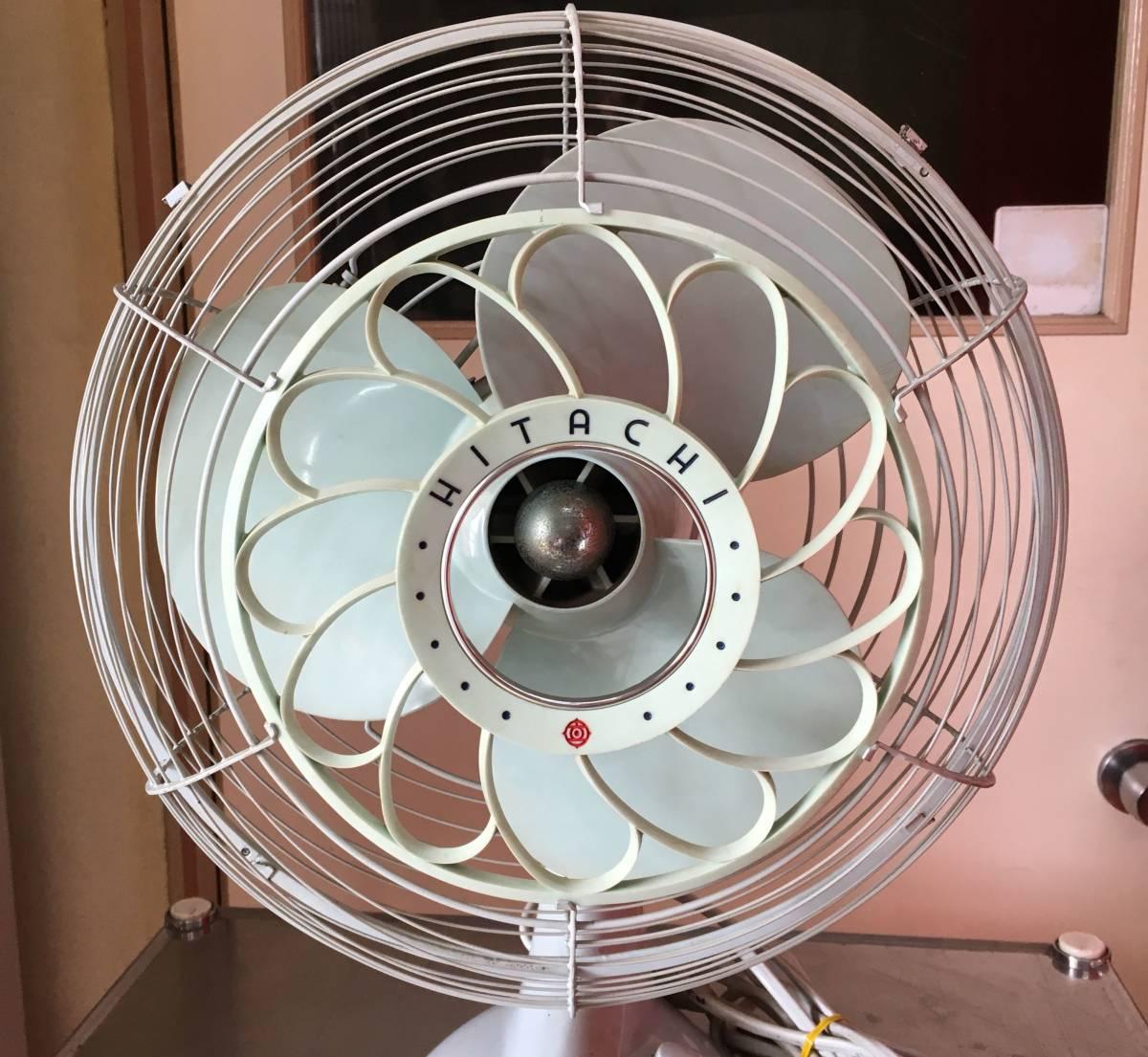 HITACHI 日立 扇風機 M-6036B アンティーク レトロ 動作品!!_画像2
