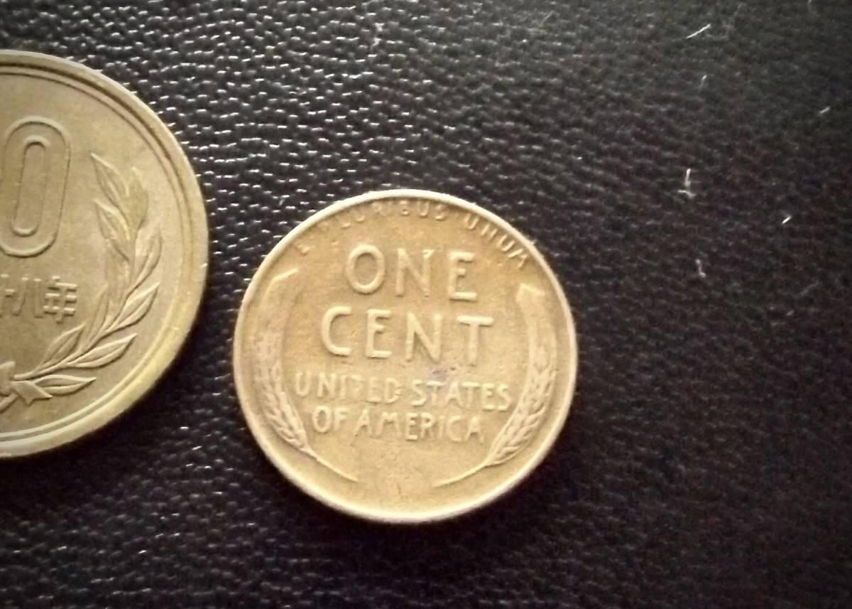 麦ペニー アメリカ合衆国 1セントコイン 1952年 D刻印  送料無料(9039)リンカーン USA 貨幣 お金 貨幣 硬貨 ドル _画像2