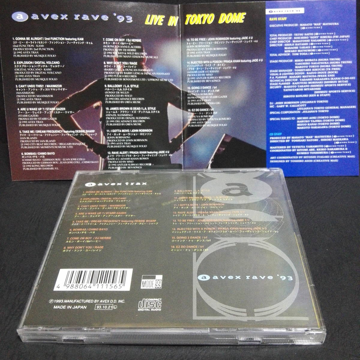 avex rave 93 LIVE in Tokyo Dome 帯付 全16曲LIVE 音源CD ジュリアナテクノ イタロ 90s DISCO JHON ROBINSON trf Maximizor L.A.STYLE_画像5