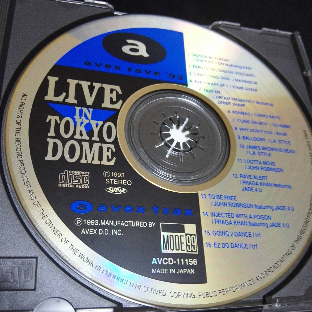 avex rave 93 LIVE in Tokyo Dome 帯付 全16曲LIVE 音源CD ジュリアナテクノ イタロ 90s DISCO JHON ROBINSON trf Maximizor L.A.STYLE_画像10
