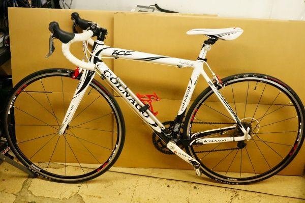 Y130ら】COLNAGO コルナゴ ACE 105 2011年モデル フレームサイズ約500mm カーボン WHTカラー_画像1