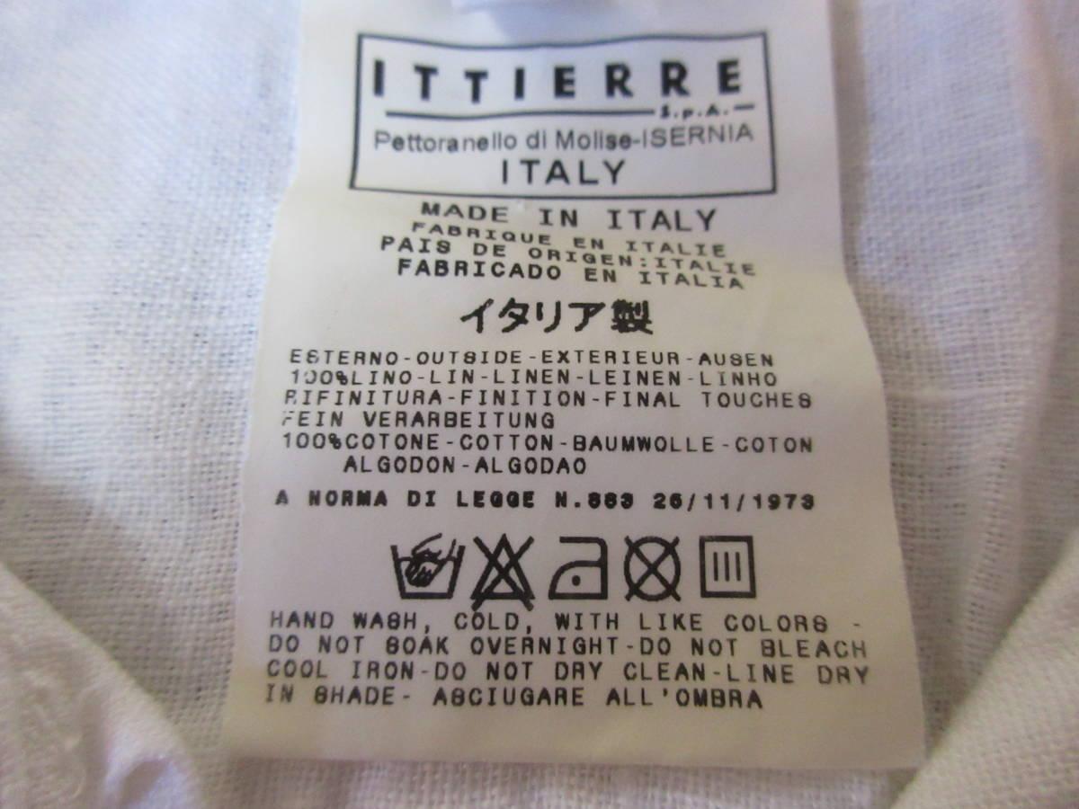 ドルチェ&ガッバーナ 半袖 リネンシャツ 32/46 イタリア製 亜麻 エポレット D&G メンズ 白ホワイト ドルガバ_画像4