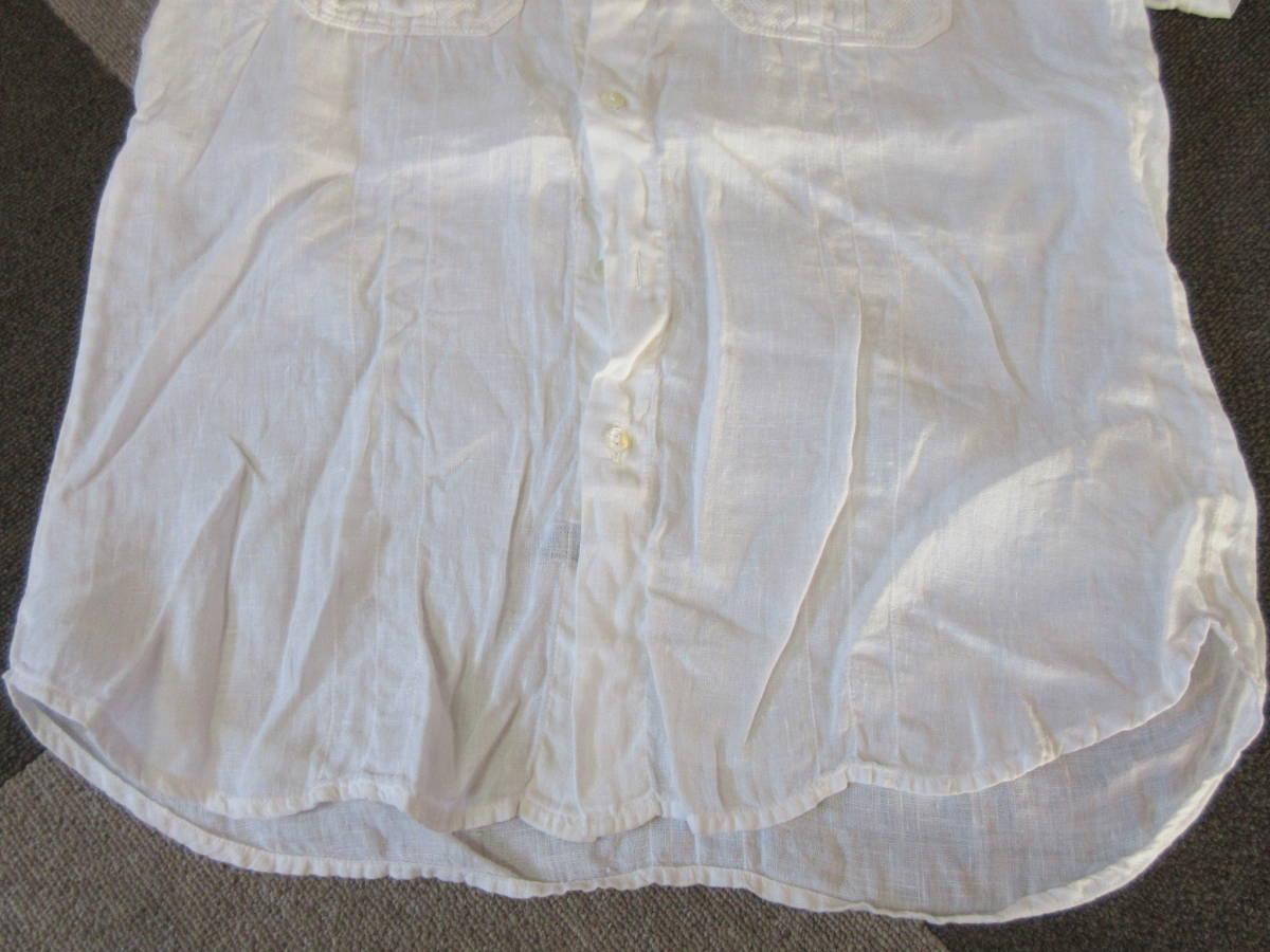 ドルチェ&ガッバーナ 半袖 リネンシャツ 32/46 イタリア製 亜麻 エポレット D&G メンズ 白ホワイト ドルガバ_画像10