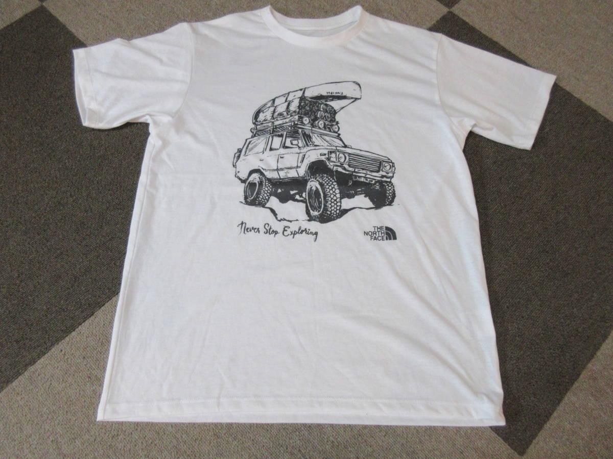 NORTH FACE ポリエステル素材 Tシャツ メンズM 四駆 ゴールドウィン アウトドア クライミング キャンプ カットソー カヌー 速乾