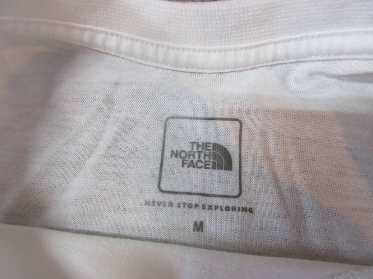 NORTH FACE ポリエステル素材 Tシャツ メンズM 四駆 ゴールドウィン アウトドア クライミング キャンプ カットソー カヌー 速乾_画像3