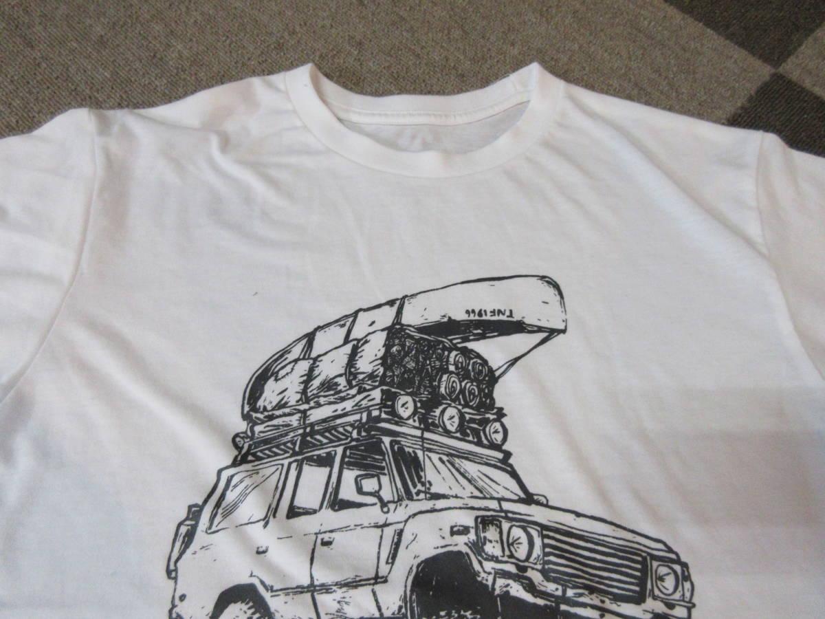 NORTH FACE ポリエステル素材 Tシャツ メンズM 四駆 ゴールドウィン アウトドア クライミング キャンプ カットソー カヌー 速乾_画像5