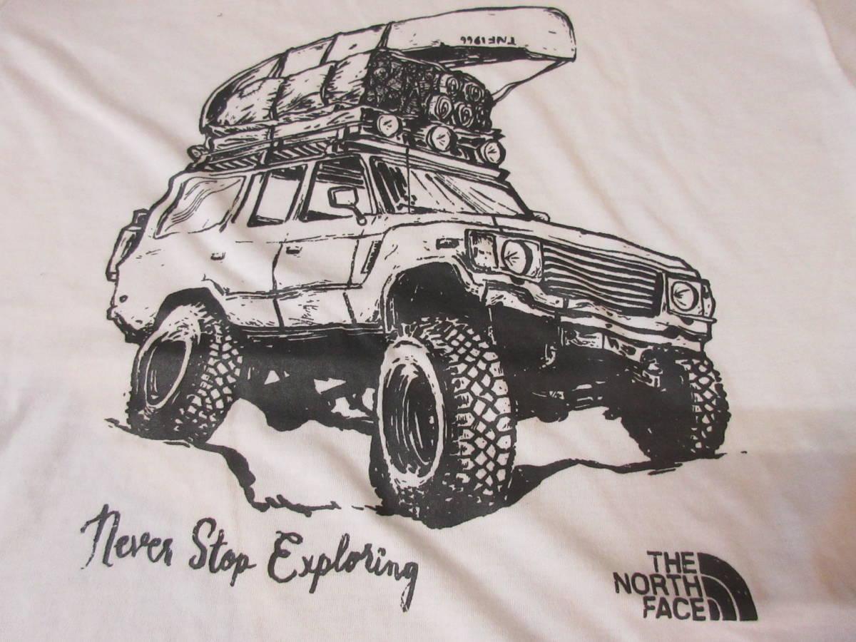 NORTH FACE ポリエステル素材 Tシャツ メンズM 四駆 ゴールドウィン アウトドア クライミング キャンプ カットソー カヌー 速乾_画像7